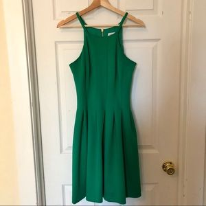 Calvin Klein Cocktail Dress - Green w/ Gold Zipper
